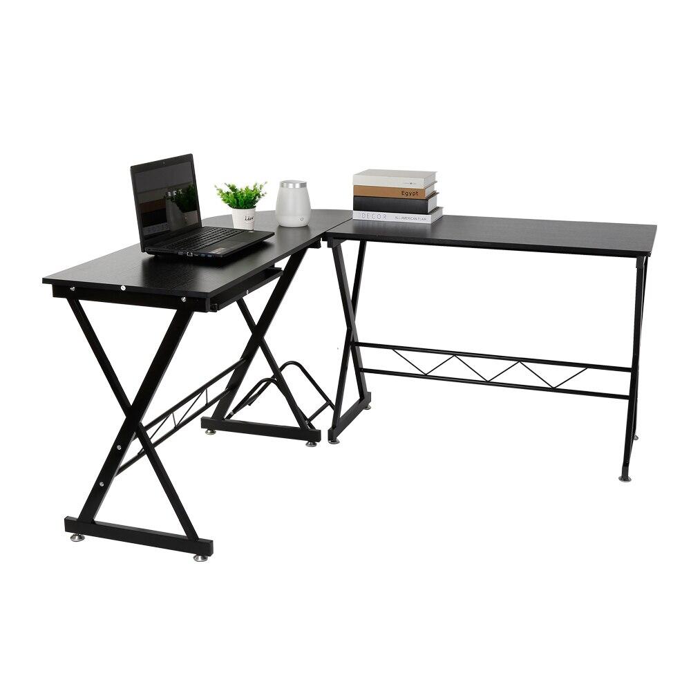 2 en 1 détachable ordinateur PC bureau en métal robuste table d'ordinateur portable mobilier de bureau ordinateur portable bureau pour le commerce général en utilisant HWC