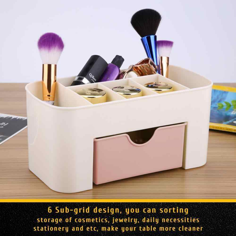 Make Up ผู้ถือแปรง/หม้อเก็บกรณีอัญมณีจัดเก็บกล่องลิ้นชัก