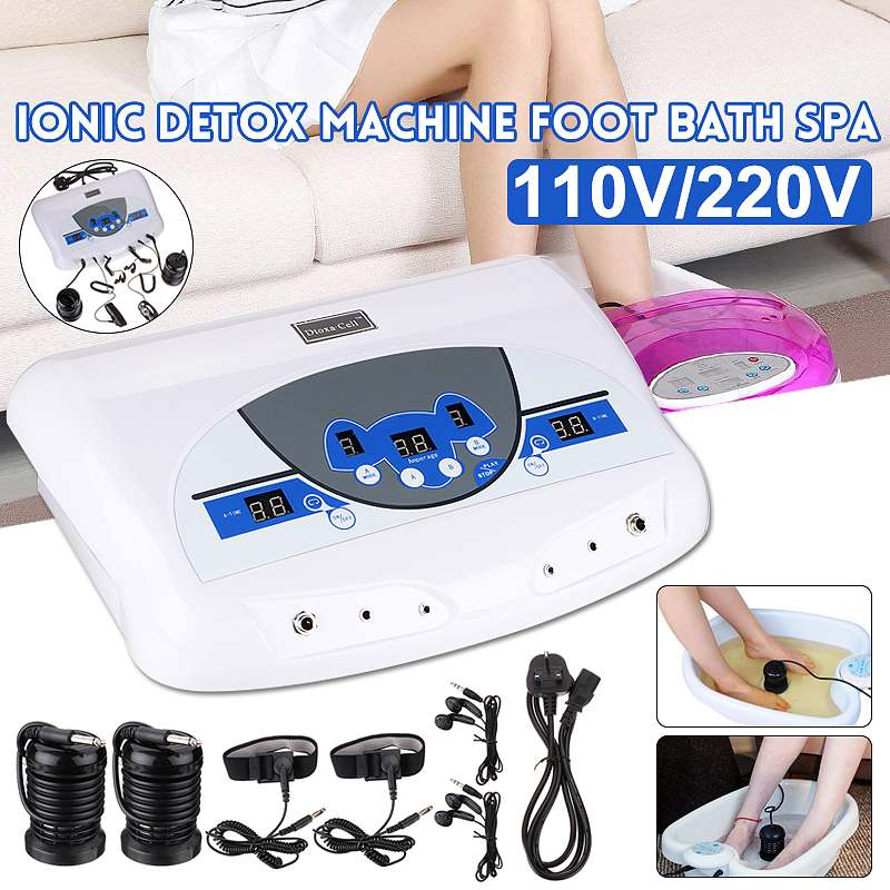 110V/220V Dual User Detox Ionic Foot Bath Ion Spa Machine Cell Cleanse MP3 Arrays title=