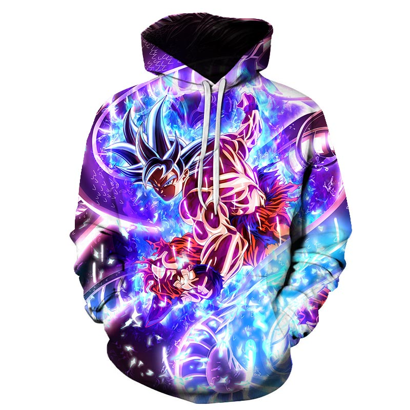 New Dragon Ball Z Vegeta Resurrection Hoodies Women Men Anime Super Saiyan Goku/Majin Buu/Piccolo/Cell DBZ Hoodie