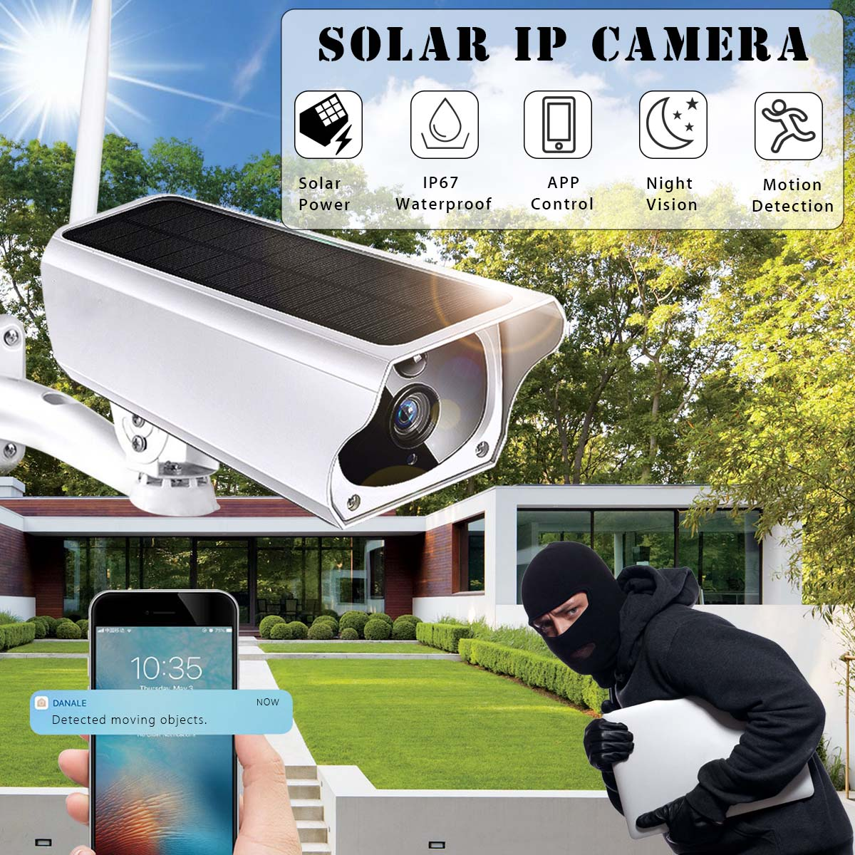 1080P Solar Camera Wireless Outdoor IP67 Waterproof Night Vision App Remote Monitoring Wifi Security IP Surveillance Camera1080P Solar Camera Wireless Outdoor IP67 Waterproof Night Vision App Remote Monitoring Wifi Security IP Surveillance Camera