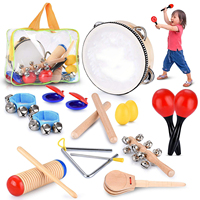 Toddler EducationalΜsical Percussion for KidsΧldren Instruments Set 18 Pcs With Maracas,Castanets&More Promote