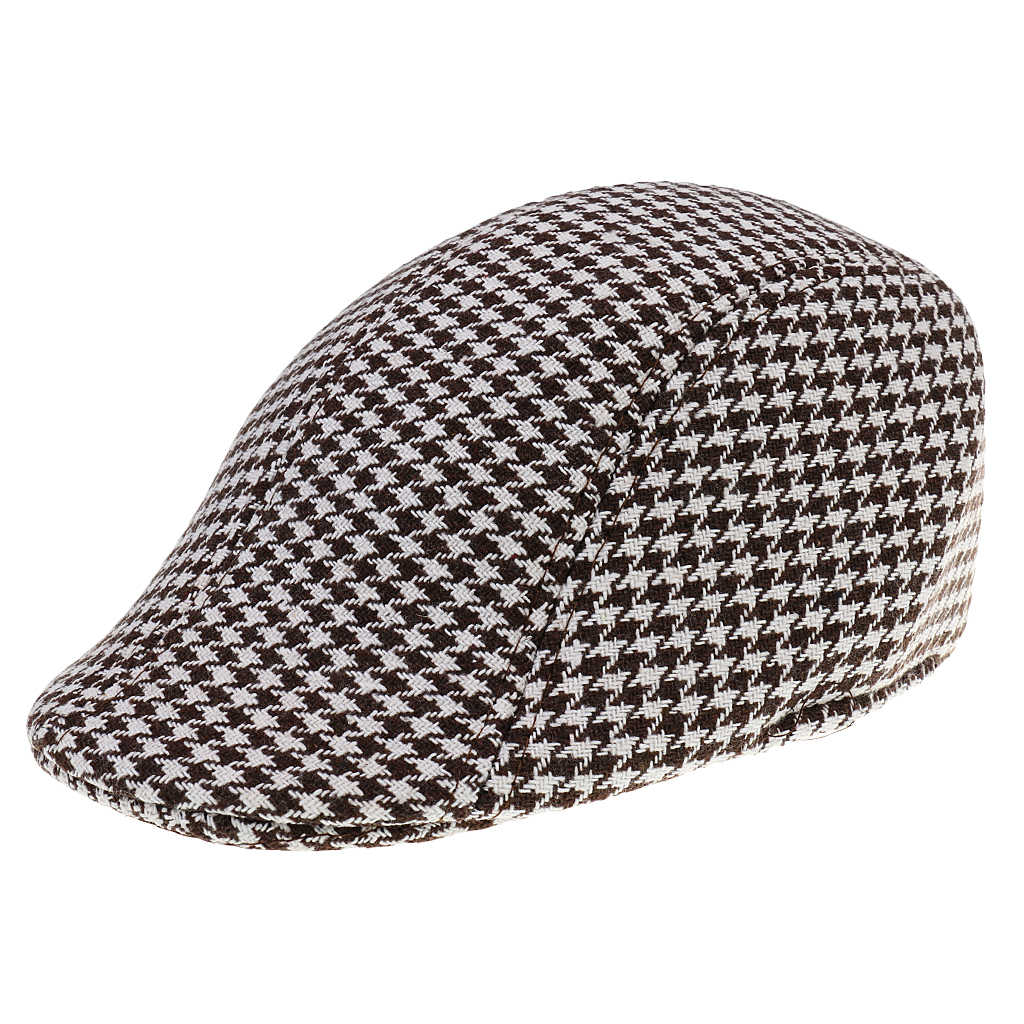 0ae5d1d76 Children Kids Peaked Country Cabbie Golf Hats Cotton Hound Tooth Beret Cap  Newsboy Flat Hat Fashion Outdoor Acc