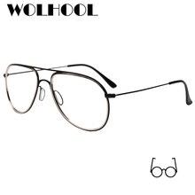 New Designer Oval Pilot Armações de Óculos Mulheres Armação de óculos de  Lente Clara Óculos Coreano 9e516689e0