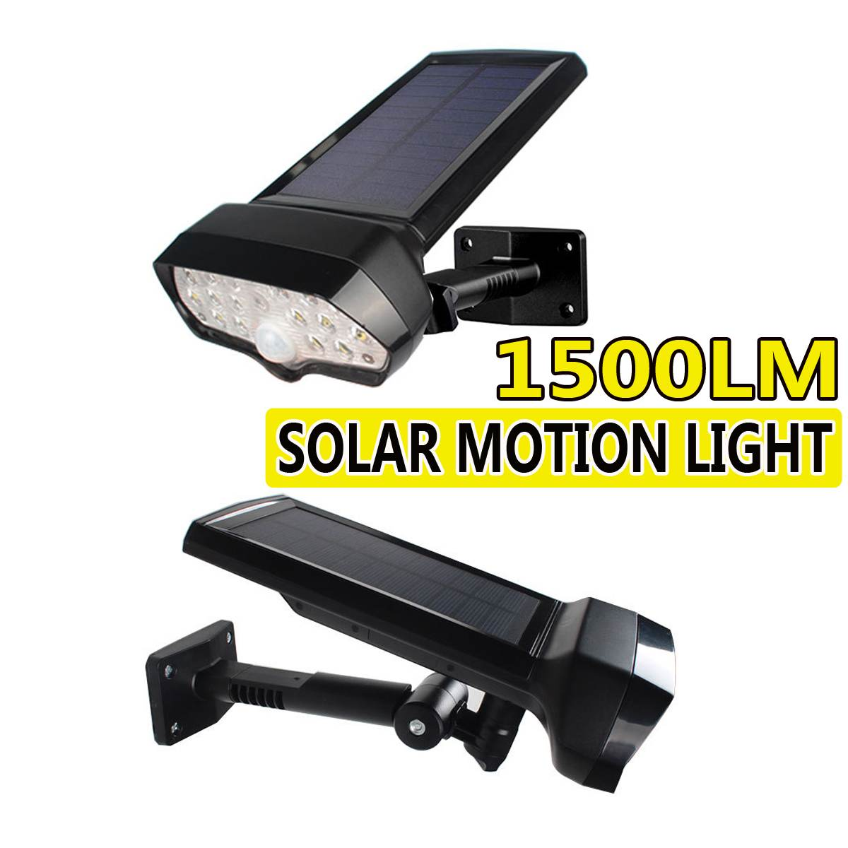 Waterproof PIR Motion Sensor 17LED Solar Wall Light Outdoor Security Lamp 1500LM LED Solar Spotlights Wall Lamp For Decoration