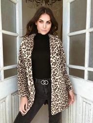 Hirigin 2018 najnowszy Hot kobiet zima Leopard puszysty polar kurtka płaszcz swetry rozpinane z kapturem Jumper topy Clubwear 4
