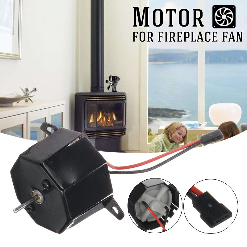 Fireplace Heat Powered Stove Fan Motor Heat Distribution Komin Log Wood Burner Friendly Quiet Fan Motor Fireplace Accessories