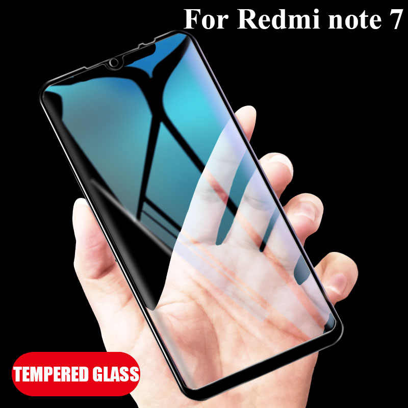 Redmi Note 7 glass full glue Screen Protector Protection Protective Glass for xiaomi ksiomi xiomi Red mi me my Not 7 note7 glas