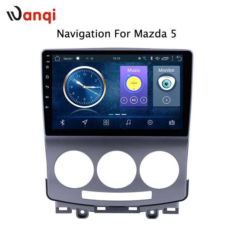 Lecteur DVD autoradio Android 8.1 pour Mazda 5 2005-2010 GPS Glonass Navigation Audio vidéo SWC