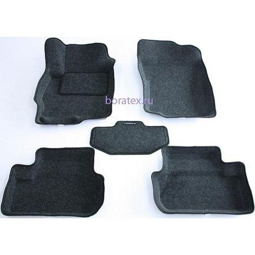 3D carpet BORATEX BRTX-1036 for Mitsubishi Lancer 10 2007-dark gray оптика передняя tuning plus для mitsubishi lancer 2007
