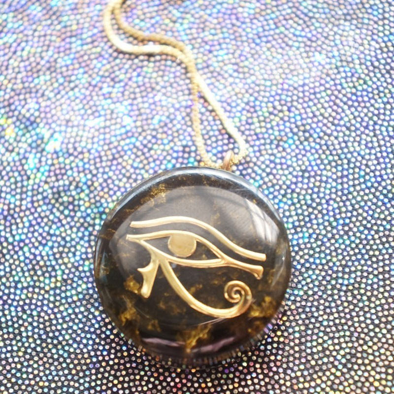 AURAREIKI 2019 New Orgonite Transit Horus Eye All-Seeing Eyes Devil's Eye Necklace That Changes The Magnetic Field Of Life Gift