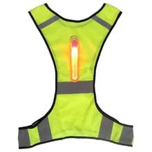 Светодиодный светоотражающий спортивный жилет рабочая одежда куртка Открытый безопасности унисекс мотоцикл