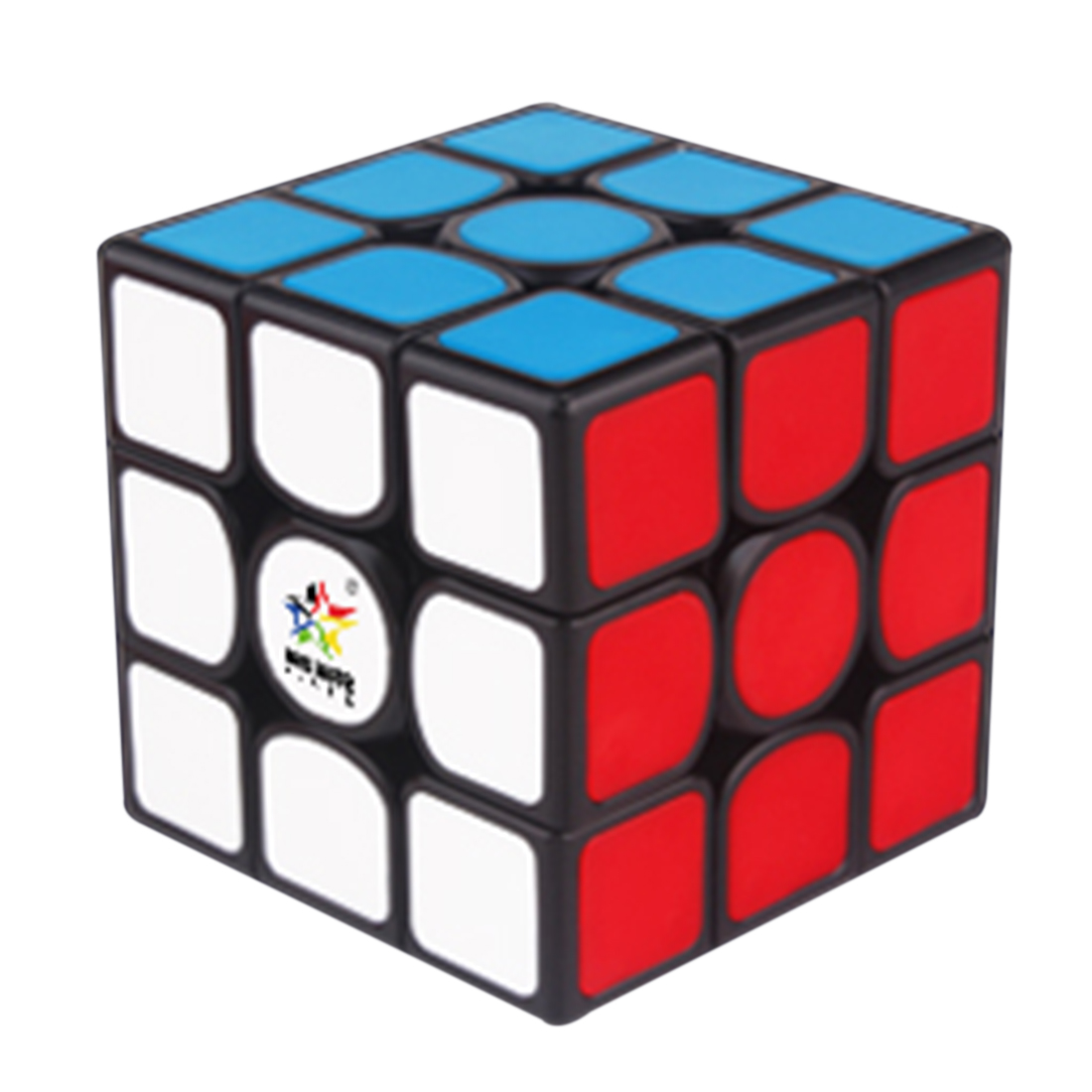 Yuxin Kylin V2M 3x3x3 Magnetic Magic Cube Square Cube Puzzle Toy For Brain Training - Black Background And Dark Red Paster