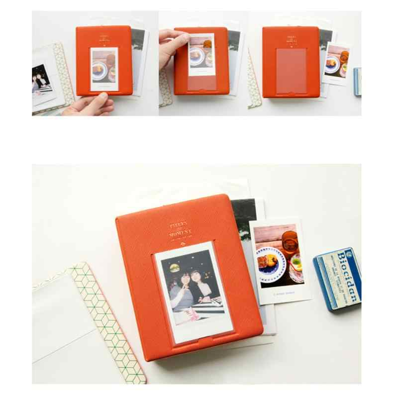 New 64 Pockets  PVC Album Case Storage Polaroid Photo FujiFilm Instax Mini Film Photo Credit Card Storage Book Random Color