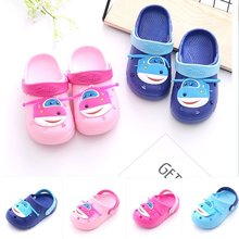 Kids sandals baby sandals antiskid kids summer shoes in PVC with holes(China)