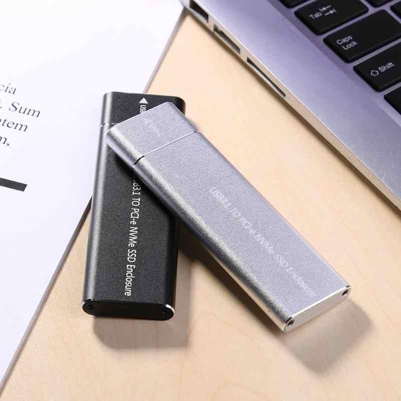 USB3.1 tipo C a m2 M llave NVMe SSD caja portátil de Estado Sólido caja de la vivienda 10Gbps disco duro de alta velocidad