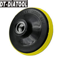 Tampon arrière en mousse plastique, DT-DIATOOL de diamètre 4 pouces/5 pouces pour tampons de polissage diamantés M14 ou 5/8 – 11, connexion disque de ponçage utilisé