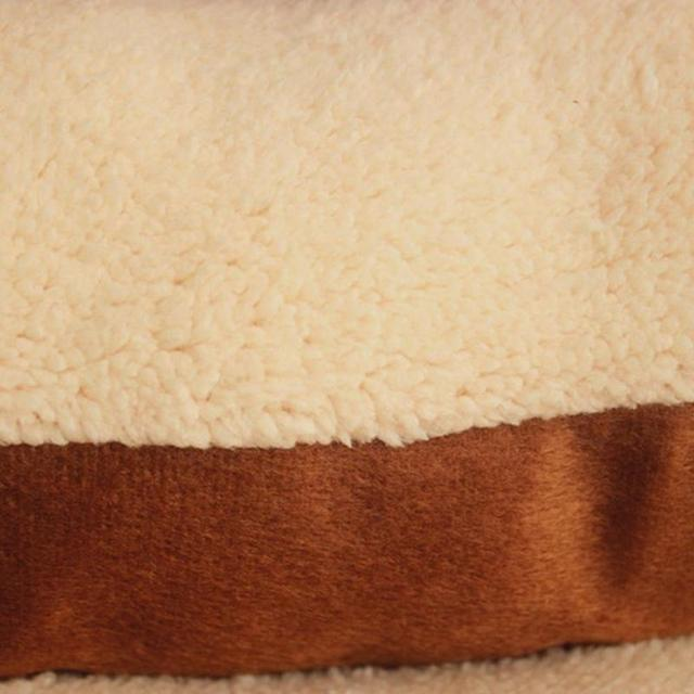 Lamb Fleece and Cotton Washable Pet Bed