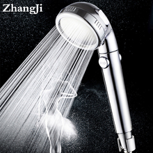 Zhang Ji ABS electroplated finishes 3 adjustable Modes Water Saving SPA Shower head High Pressure Bathroom Handheld