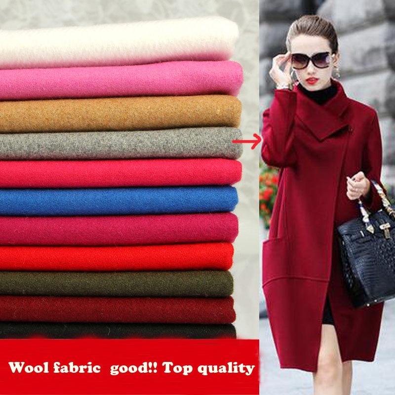 Dobrý ! 150 * 50cm2pc vlněná tkanina vlna / kašmírová tkanina patchwork tkanina vlněná látka textilie materiál kutilství ženy muž kabát bunda
