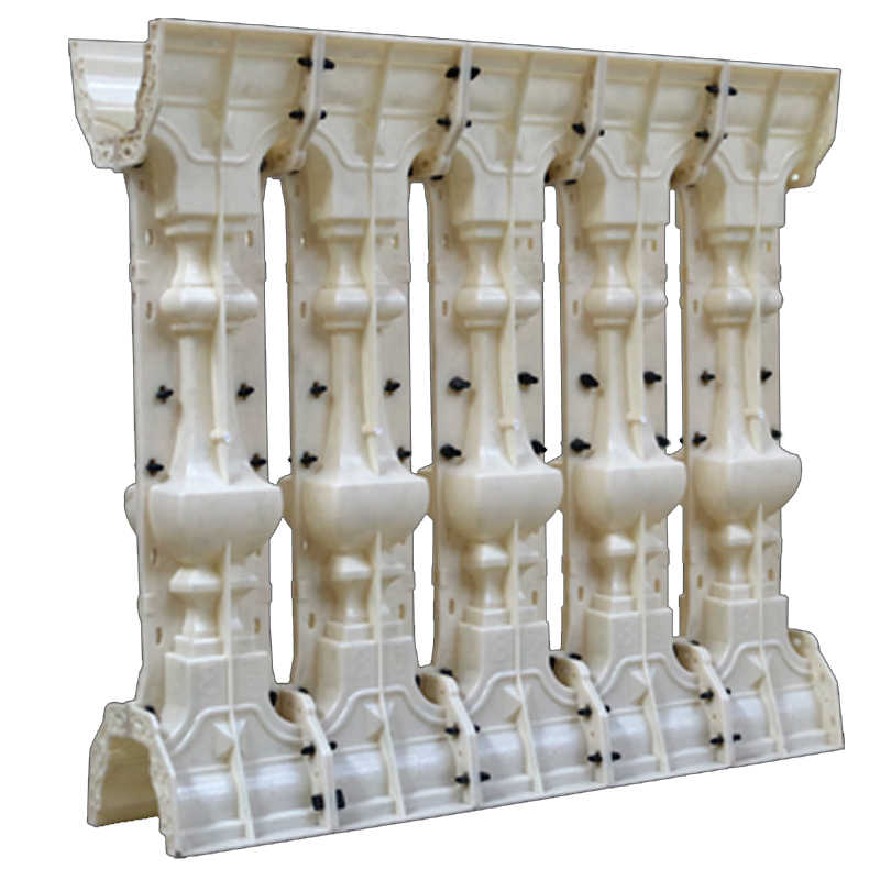 Hot sale ABS plastic concrete pillar fence mould AA8 baluster mold