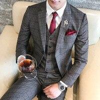England Style mens suits wedding groom Classic Men Suit Slim fit Slim Fit Gentle Blazer Custom 3pc coat vest pant Homme