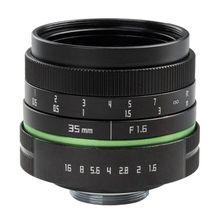 Mirrorless 35mm F1.6 C Montagem Da Lente Para Câmera APS C M4/3 FX EOSM N1 P/Q j1 V2 J3 V3 E P1 E PL1 G1 GF1 GH1 NEX 3 NEX 5 NEX 7 M3