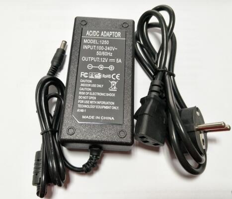 PD1205 12V 5A adaptador de corriente alterna para iMAX B5 B6 B8 3E cargador de alta calidad Adaptador de adaptador de 3/4 pulgadas, cable de grifo, adaptador de tanque IBC, conector de reemplazo, válvula de conexión para conectores de hogar para jardín Irr