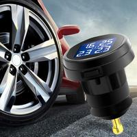 Car Sensor TS61 Tire Pressure Monitoring System TPMS Wireless Real time Cigarette Lighter With 4 Wireless Monitoring Tire Sensor