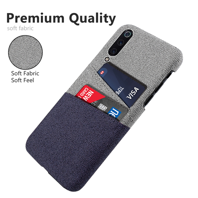 the latest bc102 16583 US $3.32 35% OFF|For Xiaomi Mi 9 Phone Case Soft Fabric Cloth Woven Cards  Holder Slim Matte Anti Scratch Hard PC Cover For Xiaomi Mi 9 Explore-in ...