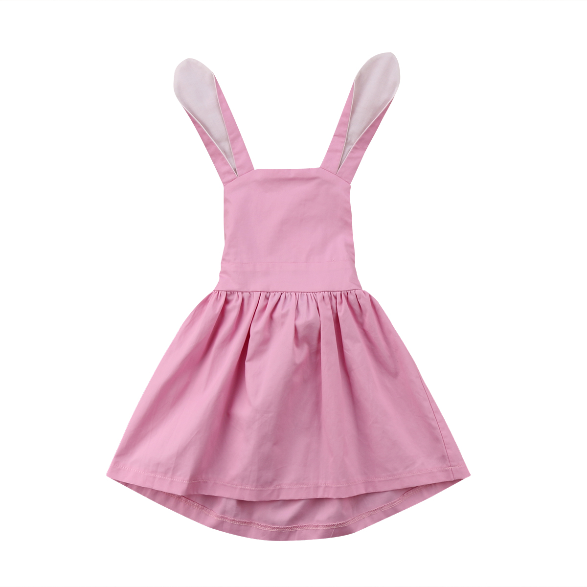 e72cf9e8a4bc4 pudcoco Child Baby Girls Pink Easter Dress Romper Clothes Rabbit Ear Dress  Outfits baby girl summer