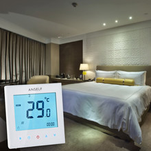 5A 110-230V Controller Weekly Programmable LCD Display Touch Screen Water Heating Thermostat Room Temperature Controller(China)