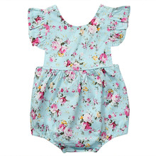 Cute Summer Newborn Infant Baby Girl Sleeveless Romper Floral Jumpsuit Playsuit Sunsuit Clothes Outfits newborn baby boys xx printed sleeveless romper jumpsuit summer kids leisure outfits playsuit fashion infant toddler clothes