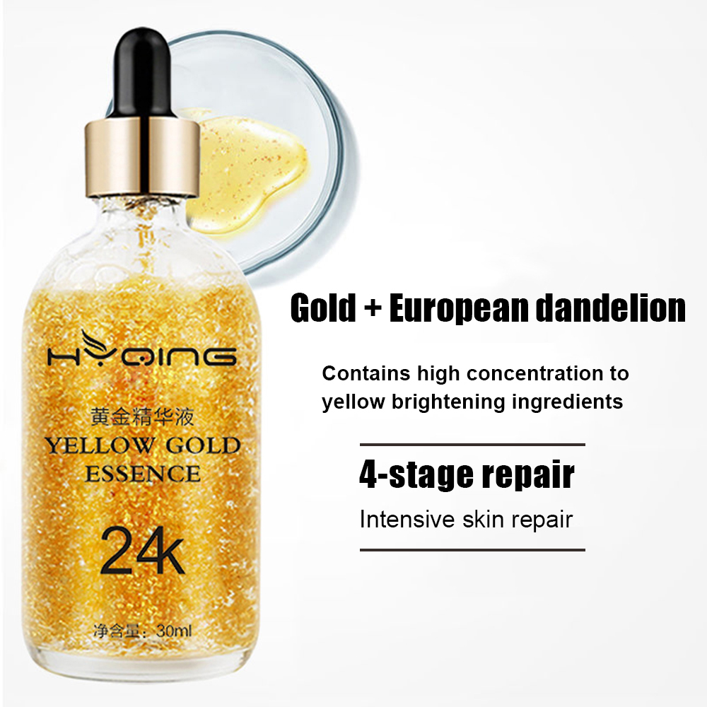 24K Gold Pure Hyaluronic Acid Essence Anti-wrinkle Shrink Pore Brighten Nicotinamide Lift Firming Face Serum Skin Care TSLM1