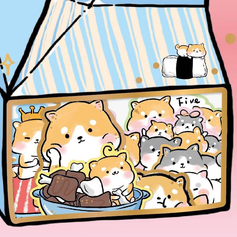 24 Stks/pak Leuke Melk Stickers Karton Lijm Stickers Kawaii Kat Panda Hond Stickers Voor Kids Dagboek Laptop Scrapbooking Benodigdheden