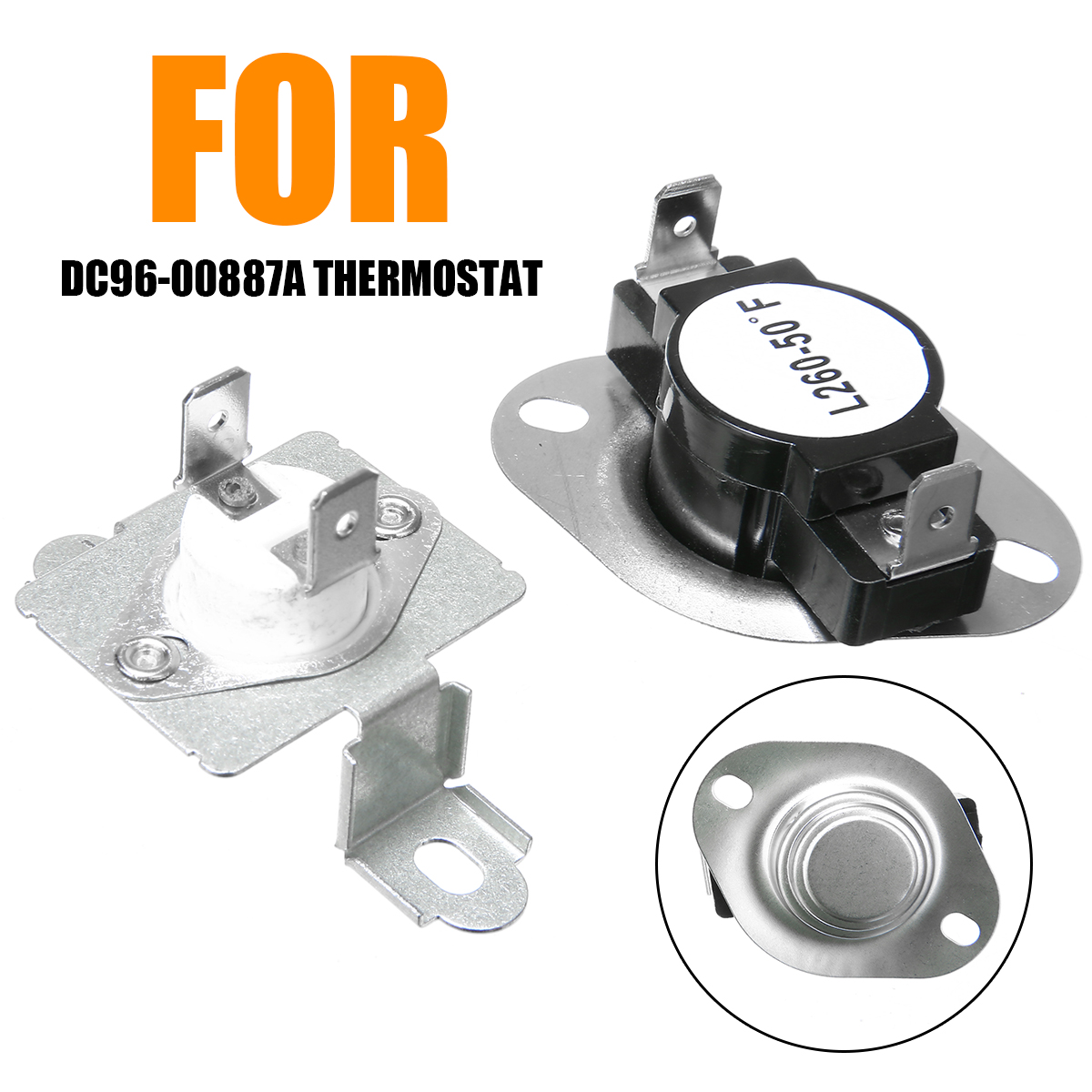 New Dryer Thermostat Kit DC47-00018A  DC96-00887A Dryer Thermal Fuse Thermostat Replacement For Washing Machine Dryer