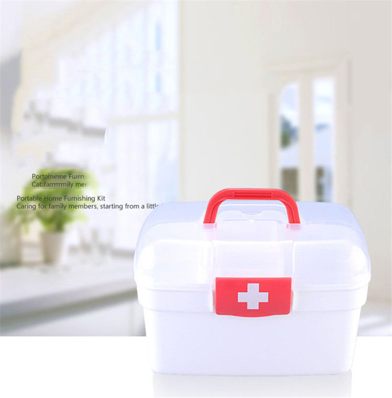 Portable Multilayer Emergency Kits Plastic Travel Survival First Aid Kit Box Waterproof Hospital Household Medicine Cabinet