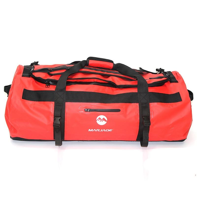 30/60/90L sac imperméable extérieur de PVC sac de stockage de sac sec pour le Rafting canoë canotage kayak rivière Trekking natation sac de voyage - 6