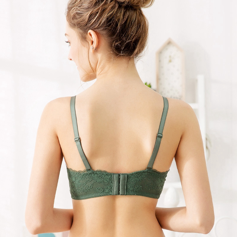 Lace Seamless Comfort Underwear Without Steel Ring Gathered On The Women'S Bra