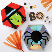 Halloween Decoration Scary Spider Pumpkin Witch Clown Party Disposable Tableware Plates Paper Haunted House Supplies