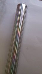 Holographic foil silver color B24 hot stamping for paper and plastic 64cm x120m