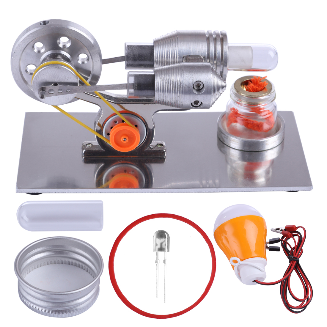 Boutique DIY Stirling Engine Model Kit Physics Science Lamp Experiment Toy Model Building Kits Toys For Children