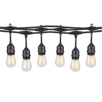 10m Waterproof Led S14 String Lights E26 E27 Vintage Edison Bulbs Outdoor Garden Holiday Lighting Commercial Grade Patio Lights