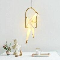 Modern Thousand Paper Cranes Led Pendant Lights Light Fixtures Living Room Restaurant Hanging Lamp Luminaire Suspension Lighting