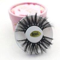 20pcs individual natural long 25mm lashes mink eyelashes volume 3d false eyelash extension fake eye lash packaging box faux cils