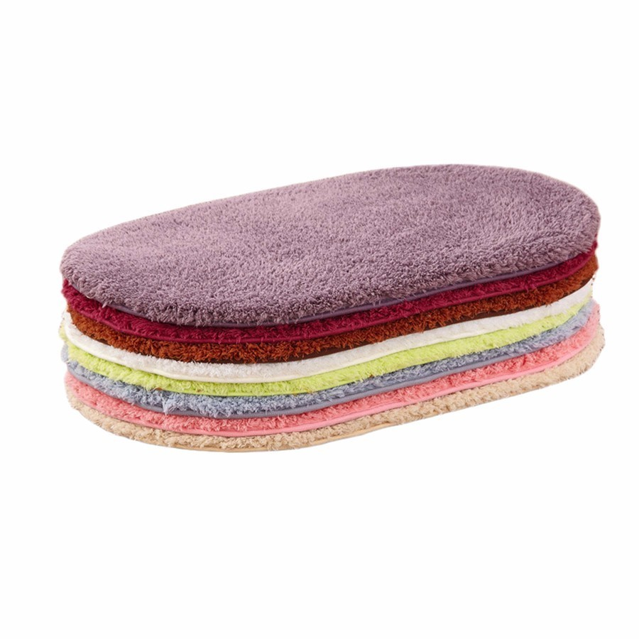 Modern Solid Fluffy Doormat Polar Fleece Pure Color Non-slip Toilet Rugs Thickening Outdoor Kitchen Mat Home Decor Carpet Tapete