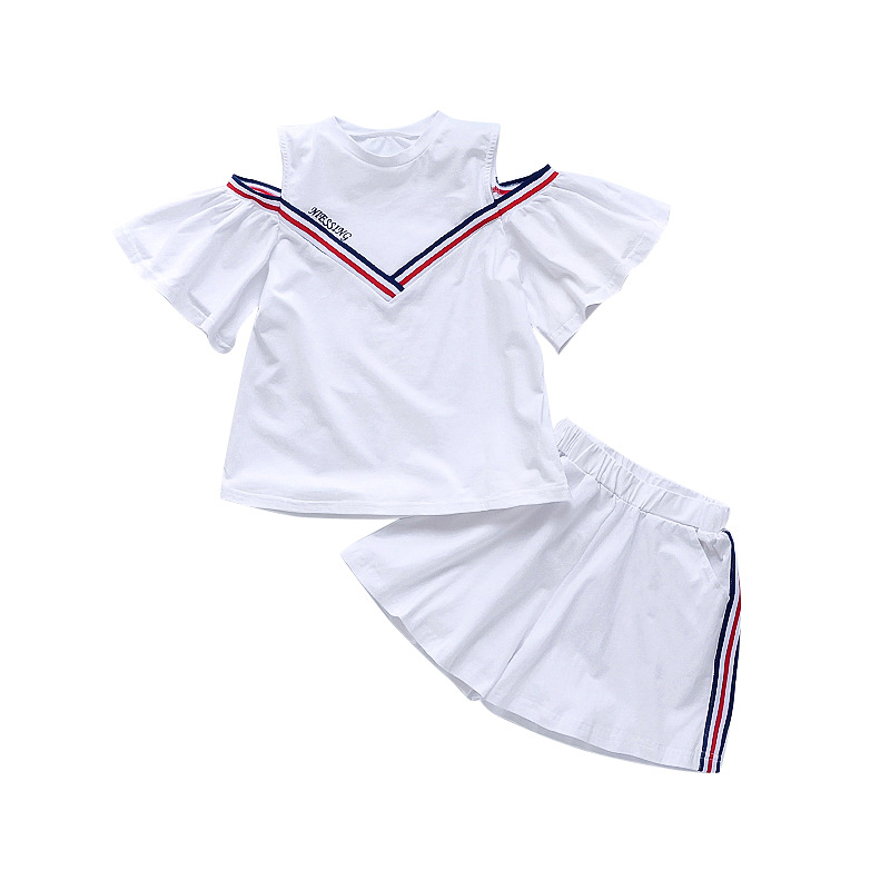 Summer children 39 s clothing new navy school uniform girls suit cotton sports students short sleeved shirt shorts 3 12 years in Clothing Sets from Mother amp Kids