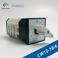 Umschalter LW12-16/4 Rotary universal cam schalter 16A 4 pole 8 position interruptores electricos mit schrauben terminal