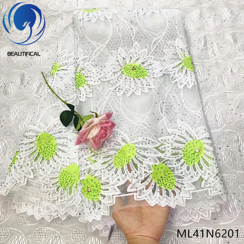 Beautifical lace fabric african laces dress with rhinestones 2019 new design french laces fabric for women 5yards/lot ML41N62