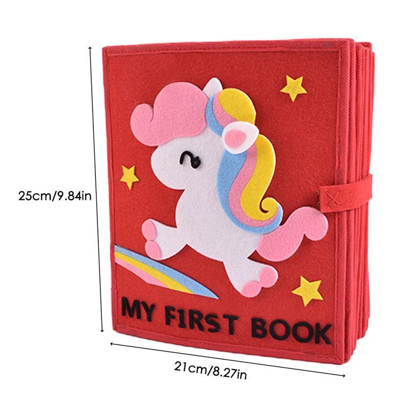 Livre en tissu doux pour enfants 3D livre à pansements Non tissé Puzzle d'intelligence manuel livre de jouets pour enfants - 6